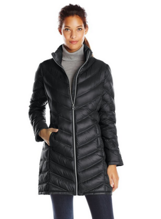 时尚海淘:Calvin Klein Chevron-Quilted Packable Down 女士棉服  65.99刀