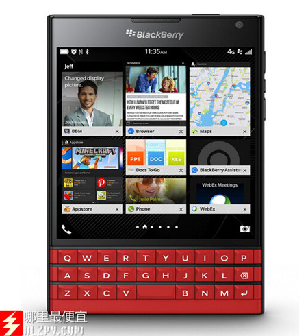 美亚Prime Day:BlackBerry黑莓 Passport 智能手机 (Very good品相) 299刀