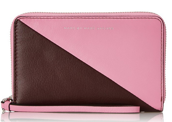 潮流海淘:Marc by Marc Jacobs Sliced Wingman 女款拼色手拿包59.34刀