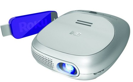 海淘:3M Streaming Projector Powered SPR1000 Roku流媒体微型投影机229.95刀(23%OFF)