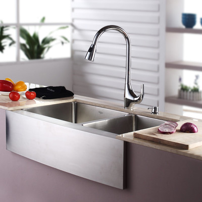Kraus-32.88-x-20.75-Farmhouse-Double-Bowl-Kitchen-Sink-with-Faucet-and-Soap-Dispenser